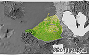 Satellite 3D Map of Cavite, desaturated