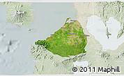 Satellite 3D Map of Cavite, lighten