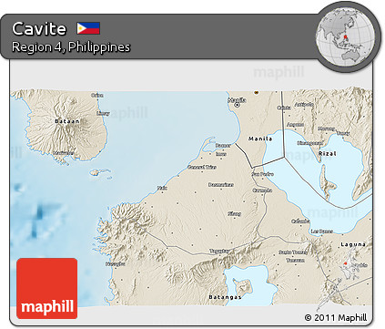 Free Shaded Relief 3d Map Of Cavite