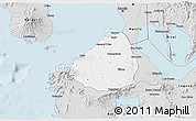 Silver Style 3D Map of Cavite