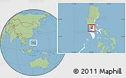 Savanna Style Location Map of Cavite, highlighted parent region