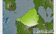 Physical Map of Cavite, darken