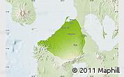 Physical Map of Cavite, lighten