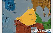 Political Map of Cavite, darken