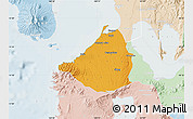 Political Map of Cavite, lighten