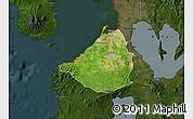 Satellite Map of Cavite, darken