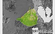 Satellite Map of Cavite, desaturated
