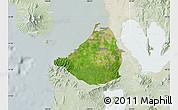 Satellite Map of Cavite, lighten