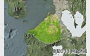 Satellite Map of Cavite, semi-desaturated