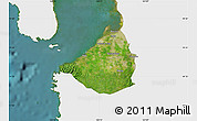 Satellite Map of Cavite, single color outside