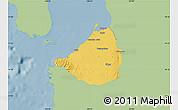 Savanna Style Map of Cavite, single color outside