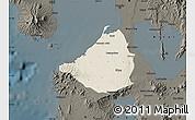 Shaded Relief Map of Cavite, darken