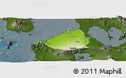 Physical Panoramic Map of Cavite, darken