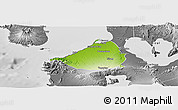 Physical Panoramic Map of Cavite, desaturated
