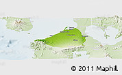 Physical Panoramic Map of Cavite, lighten