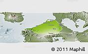 Physical Panoramic Map of Cavite, semi-desaturated