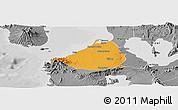 Political Panoramic Map of Cavite, desaturated