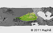 Satellite Panoramic Map of Cavite, desaturated