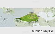 Satellite Panoramic Map of Cavite, lighten