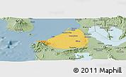 Savanna Style Panoramic Map of Cavite