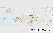 Shaded Relief Panoramic Map of Cavite, lighten