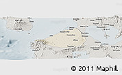 Shaded Relief Panoramic Map of Cavite, semi-desaturated