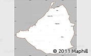 Gray Simple Map of Cavite, cropped outside