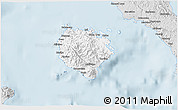 Silver Style 3D Map of Marinduque