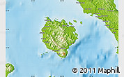 Physical Map of Marinduque
