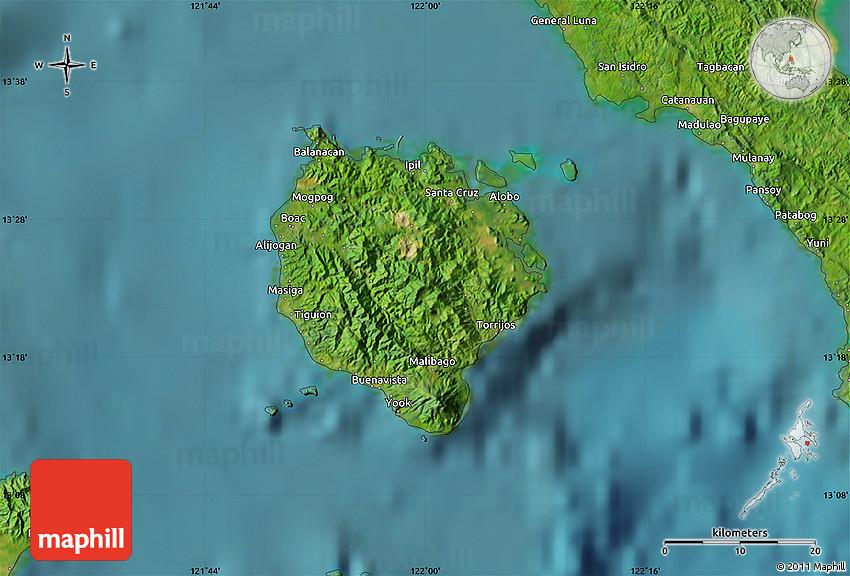 Satellite Map of Marinduque