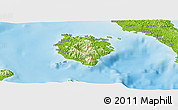 Physical Panoramic Map of Marinduque