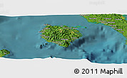 Satellite Panoramic Map of Marinduque