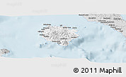 Silver Style Panoramic Map of Marinduque