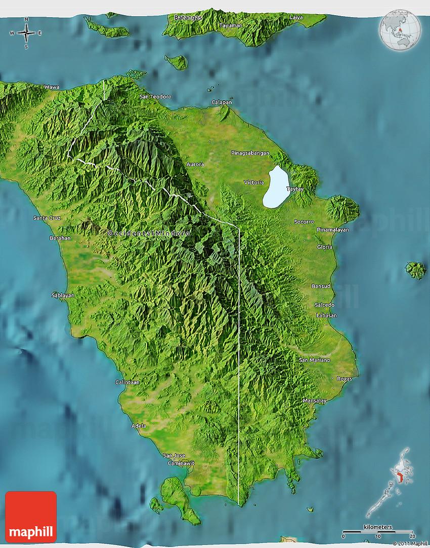 Satellite 3D Map of Oriental Mindoro