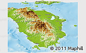 Physical Panoramic Map of Oriental Mindoro