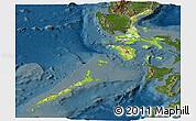 Physical Panoramic Map of Region 4, darken