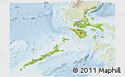 Physical Panoramic Map of Region 4, lighten