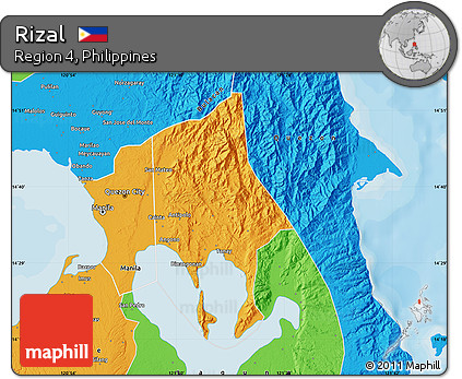 Rizal Philippines Map.Free Political Map Of Rizal