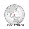 Outline Map of Albay