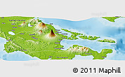 Physical Panoramic Map of Albay