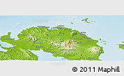 Physical Panoramic Map of Camarines Norte