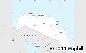 Silver Style Simple Map of Camarines Norte