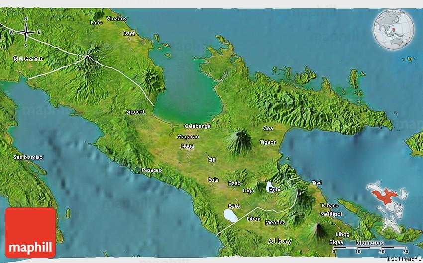 Satellite 3D Map of Camarines Sur