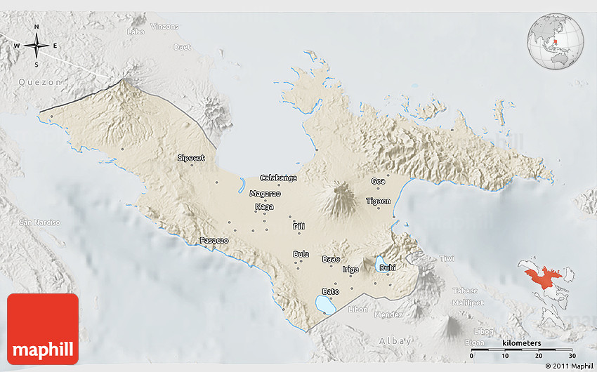 Satellite 3d Map Of Camarines Sur - Imagez co