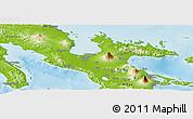 Physical Panoramic Map of Camarines Sur