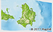 Physical 3D Map of Catanduanes