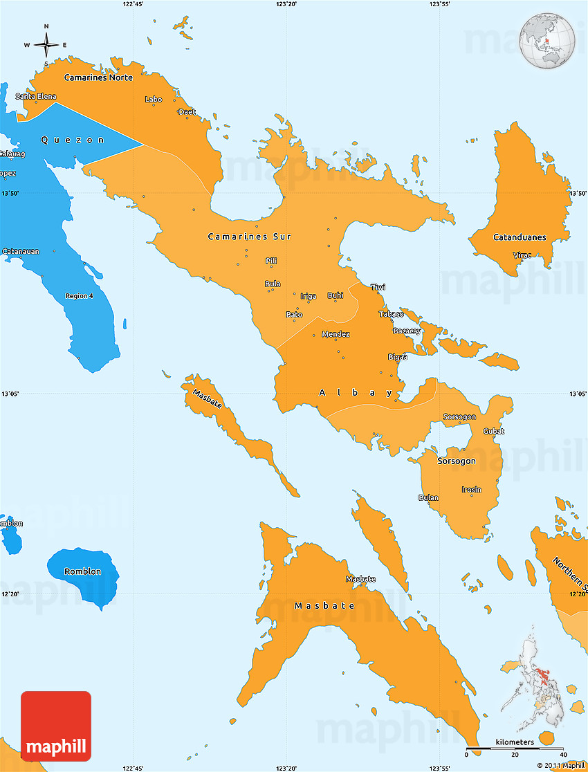 Picture of: Political Shades Simple Map Of Region 5