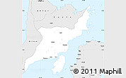 Silver Style Simple Map of Iloilo
