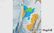 Political Map of Region 6, semi-desaturated