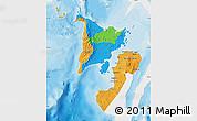 Political Map of Region 6, single color outside